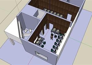 某简单的网吧室内SU(草图大师)模型