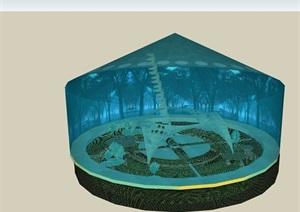 生态阳光房建筑SU(草图大师)模型