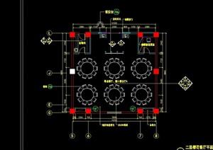 二层樱花餐厅室内设计cad施工图