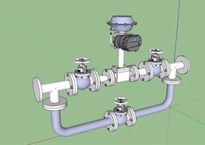水管素材设计SU(草图大师)模型