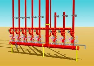 水管管道设计SU(草图大师)模型