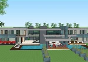 现代国外创意简约造型私人住宅别墅设计