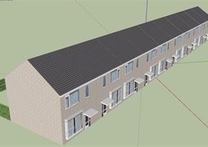 欧式小区多层居住建筑SU(草图大师)模型