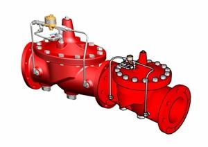 現代水管開關素材設計SU(草圖大師)模型