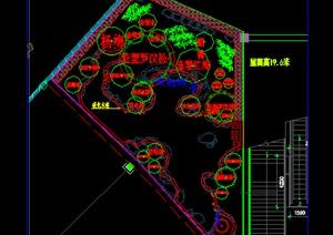 某酒店中庭绿化种植设计施工图植物配置江浙沪地区