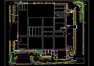 某工廠廠區綠化種植改造設計全套擴初圖