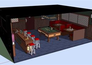 某酒吧部分空间SU(草图大师)模型