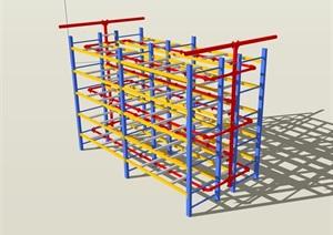 水管管道设备SU(草图大师)模型