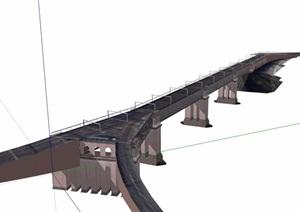 交通建筑桥梁设计SU(草图大师)模型