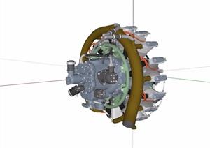 某发动机设备素材设计SU(草图大师)模型