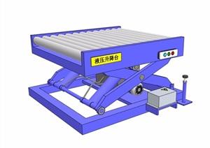 某升降台设计SU(草图大师)模型