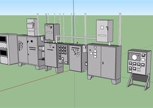 多个不同的电器设备素材设计SU(草图大师)模型