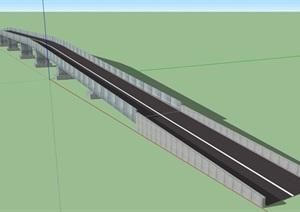 某交通拱桥桥梁SU(草图大师)模型