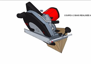 木板电动切割机SU(草图大师)模型