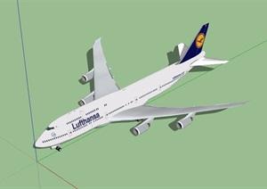 某民航飞机素材设计SU(草图大师)模型
