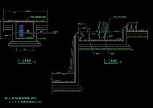 现代水池设计cad施工图
