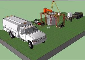 运输车素材设计SU(草图大师)模型