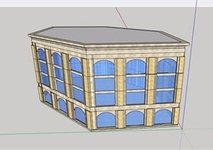 售楼处建筑多层设计SU(草图大师)模型