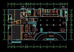 酒店一楼大堂室内设计平面图