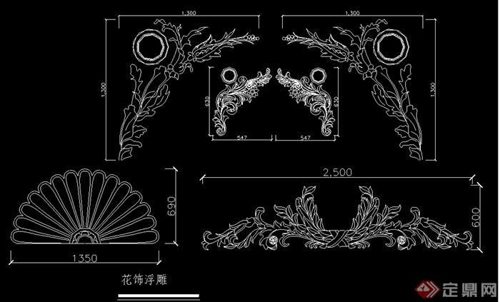 欧式风格罗马柱设计cad方案