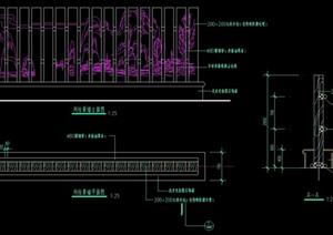列柱景墙设计cad施工图