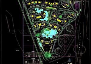 高层小区景观规划设计cad方案