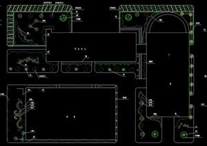 某厂区绿化规划cad方案