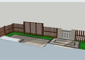 新中式   ,木结构  , 小庭院,一亩菜园