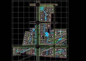 小区建筑及景观规划cad总图