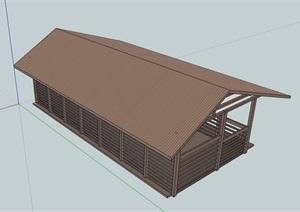 欧式风格农业杂物房建筑SU(草图大师)模型