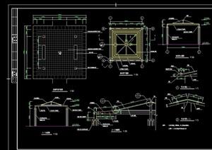 防腐木凉亭详细设计cad施工图