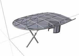 遮雨棚详细素材设计SU(草图大师)模型