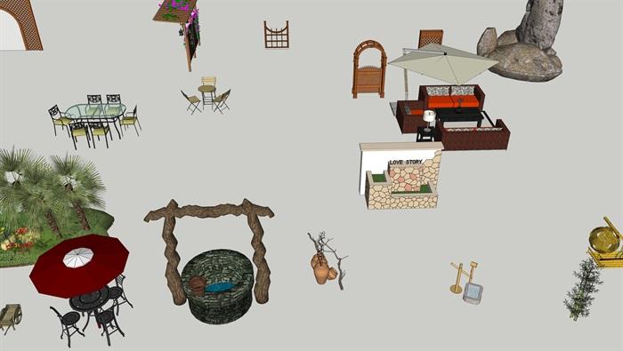 各类户外家具小品(3)