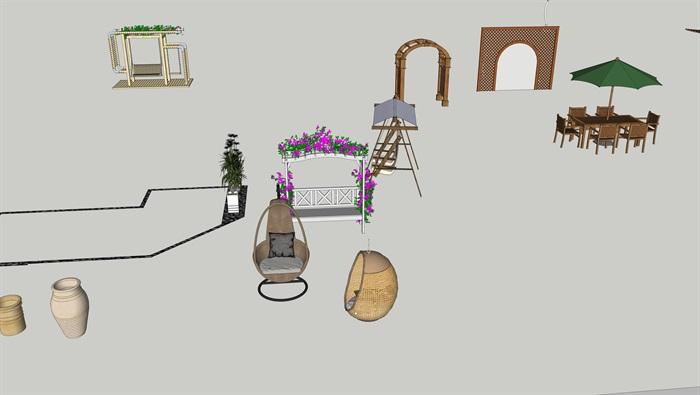 各类户外家具小品(4)