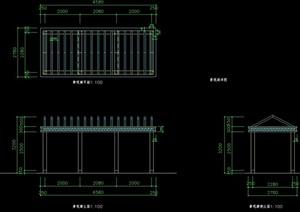 景观长廊架设计cad方案