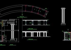 欧式廊柱详细设计cad大样图