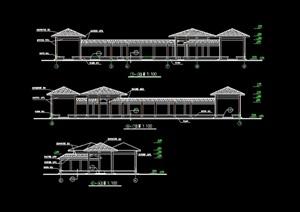 古典中式亭廊设计cad施工图