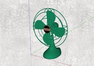 精品风扇摆件素材设计SU(草图大师)模型