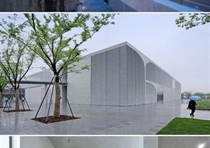 现代美术馆、博物馆SU(草图大师)模型及效果图