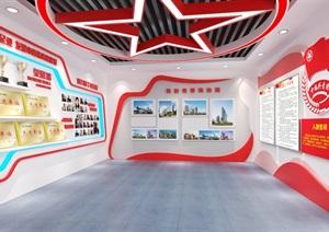 共青团员荣誉展厅3D模型及效果图