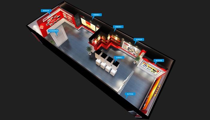 党建荣誉展厅3D模型及效果图(2)