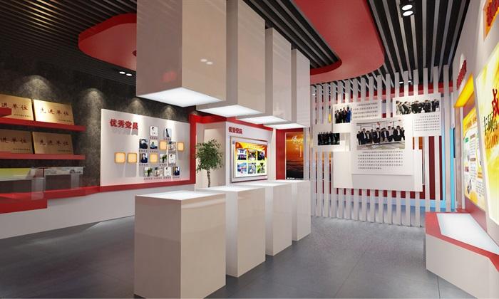 党建荣誉展厅3D模型及效果图(6)
