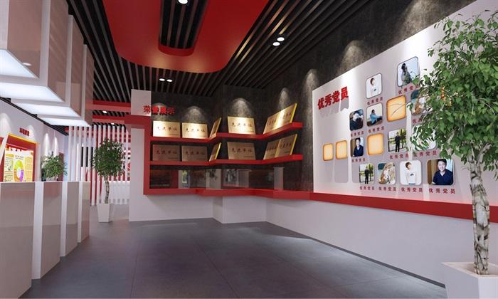 党建荣誉展厅3D模型及效果图(7)
