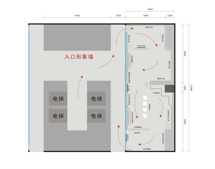 党建荣誉展厅3D模型及效果图(10)