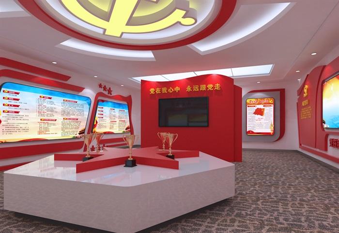 黨建展廳系列展館3D模型及效果圖(6)