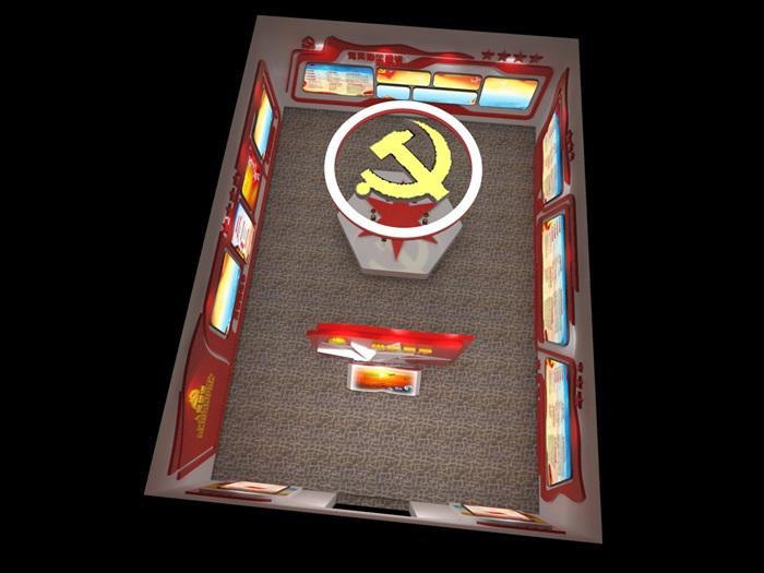 黨建展廳系列展館3D模型及效果圖(8)