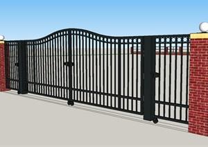 某幼儿园围墙大门方案(经济型)