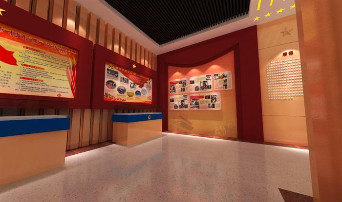 公安派出所警营文化展示中心3D模型及效果图(6)