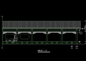 中式游廊设计cad方案