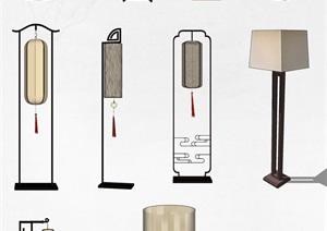 精美多款吊灯、灯具、灯SU(草图大师)模型